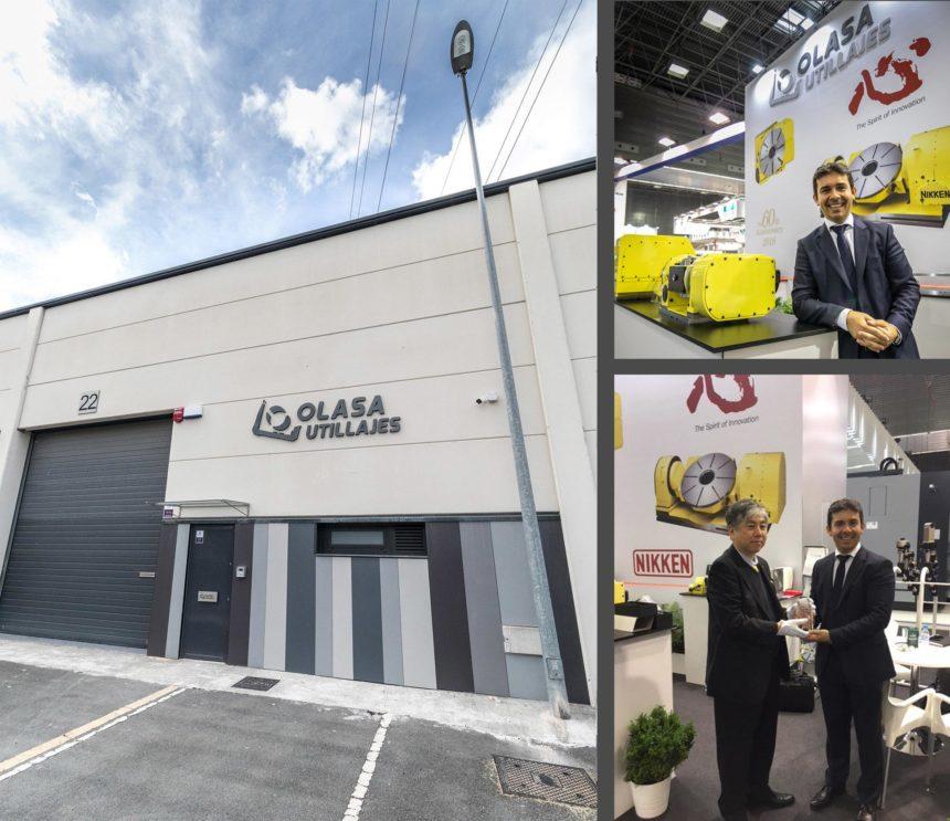 Utillajes Olasa recibe un obsequio conmemorativo por el 60º aniversario de NIKKEN y abre nuevas instalaciones