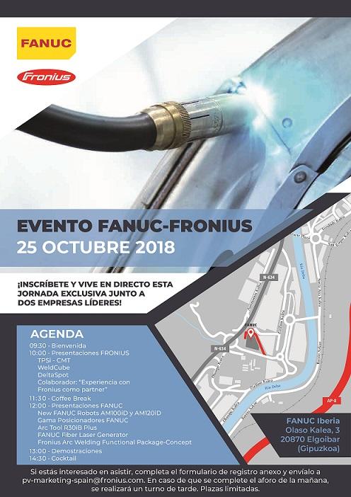 FANUC y Fronius organizan una jornada conjunta en Elgoibar