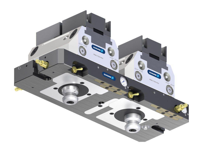 Placas base estándar, para mordazas de sujeción y el sistema de cambio rápido de palés.