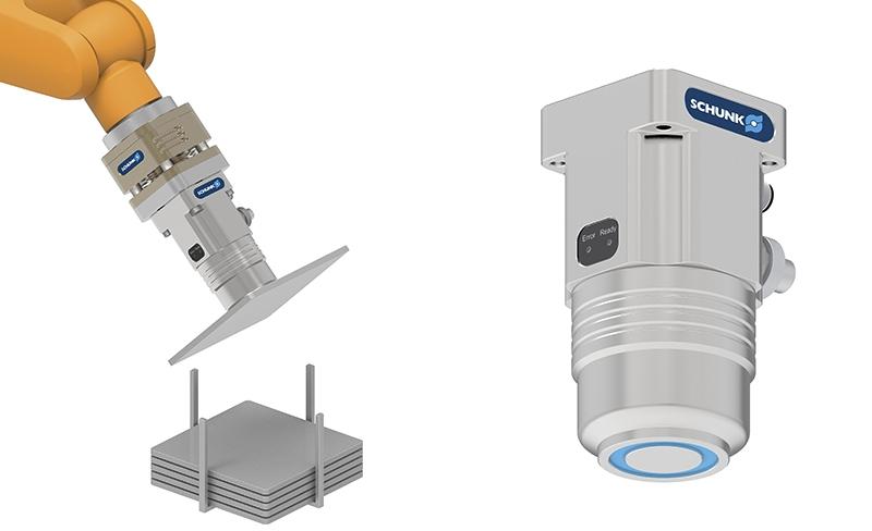 Pinza magnética permanente compacta de 24 V con electrónica integrada
