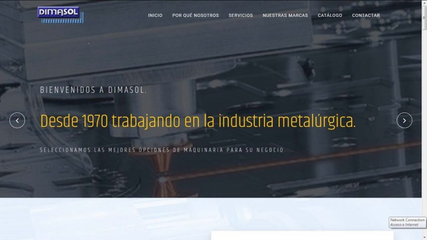 DIMASOL renueva su página web