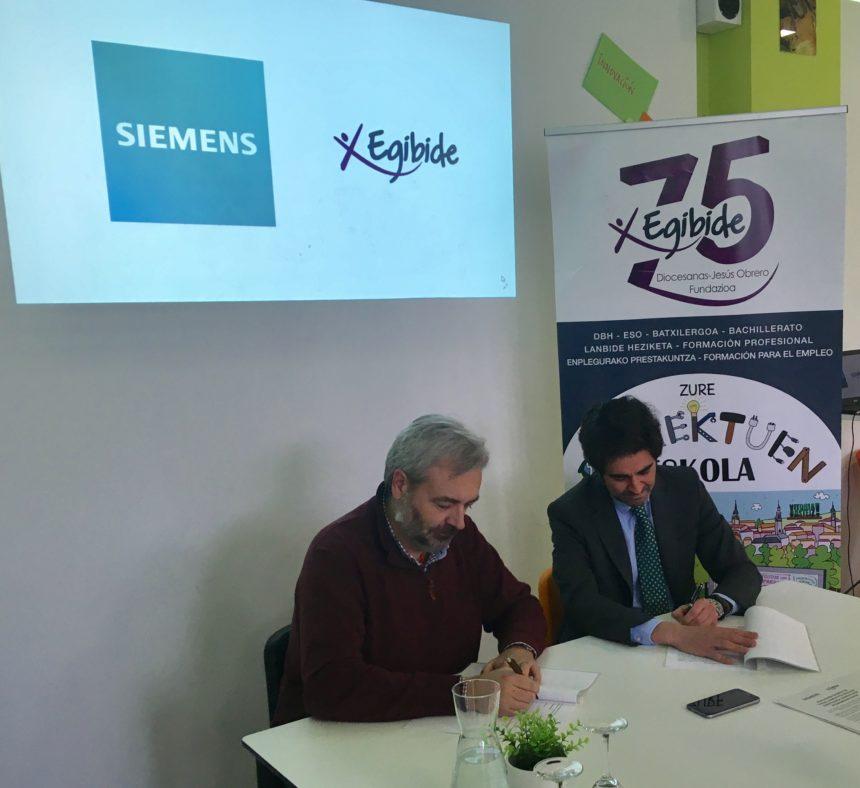 Siemens certifica al Centro Educativo EGIBIDE en tecnología SINUMERIK