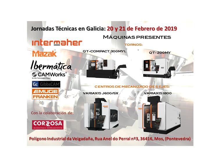 Jornadas Técnicas de Intermaher-Mazak, Ibermática y Emuge Franken el 20 y 21 de Febrero en Galicia
