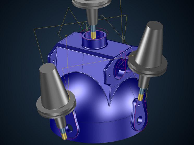 Nueva solución de Tebis: desbarbado automatizado de varios ejes