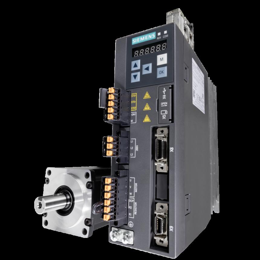 El nuevo firmware del servoaccionamiento Sinamics V90 añade nuevas funciones