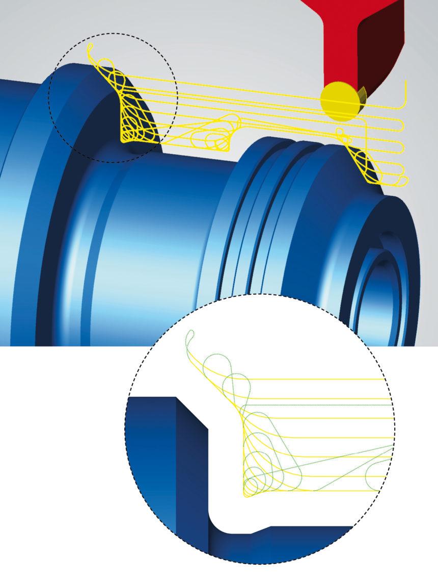 Trayectorias de herramienta más eficientes con hyperMILL® MAXX Machining