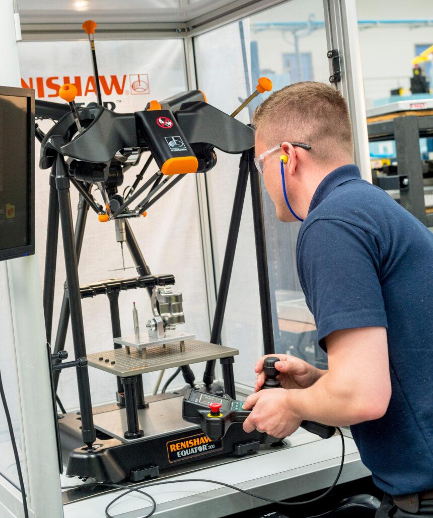 El calibre Equator™ de Renishaw permite un aumento de la producción en uno de los principales fabricantes aeroespaciales