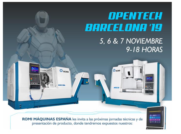 ROMI Máquinas España organiza el OPENTECH ROMI '19 los días 5, 6 y 7 de noviembre