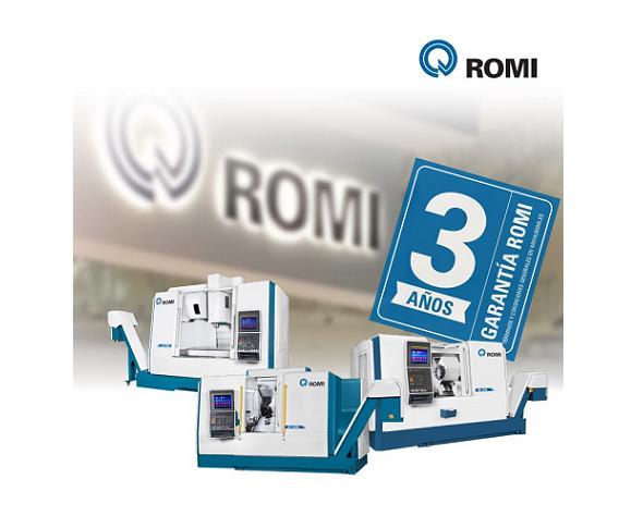 ROMI ofrece 36 meses de garantía para sus máquinas