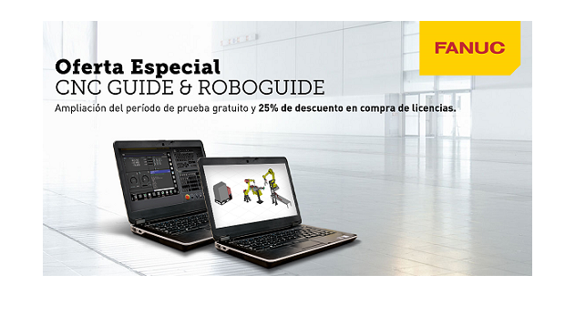 FANUC amplía el periodo de prueba gratuita de los softwares CNC Guide y ROBOGUIDE