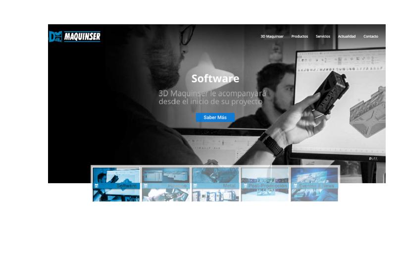 Nueva web 3D Maquinser
