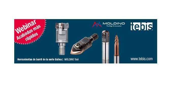 TEBIS y MOLDINO organizan un webinar sobre acabados más rápidos con herramientas de barril