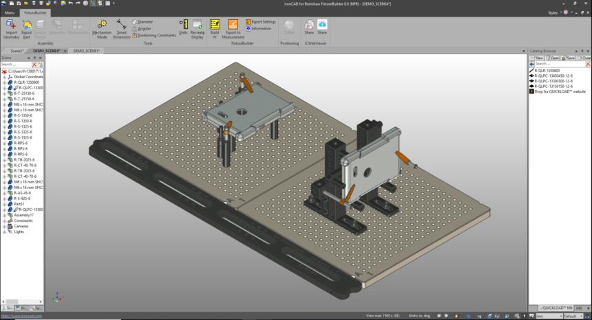 Nueva versión del software de modelado 3D FixtureBuilder de Renishaw