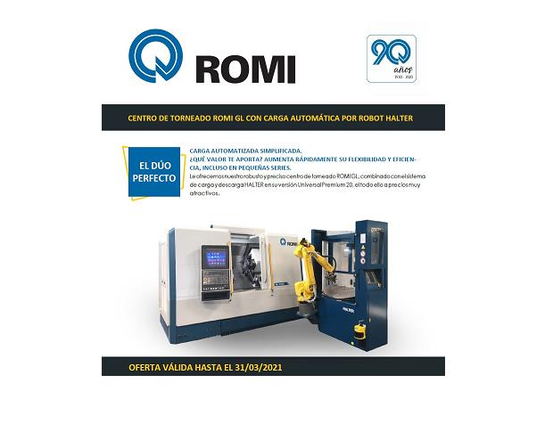 ROMI MÁQUINAS ESPAÑA presenta la promoción: El Dúo perfecto, carga automática simplificada
