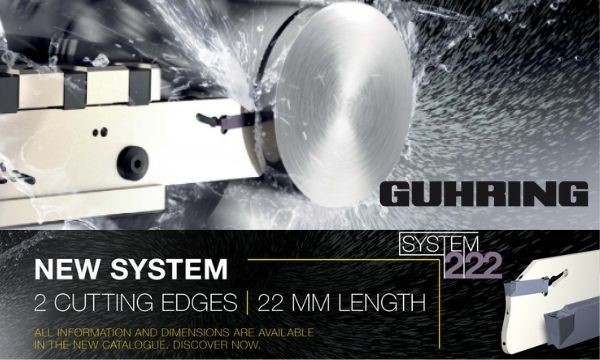 Nuevo sistema 222 para tronzar de Gühring